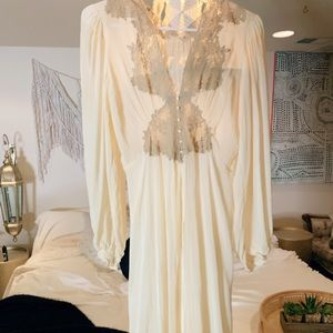 Vintage Bridal Nightgown Sheer Dressing Gown